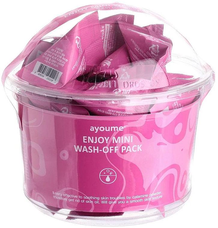 Masque à la poudre de calamine pour visage - Ayoume Enjoy Mini Wash-Off Pack (sachets) — Photo N1
