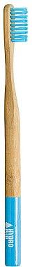 Brosse à dents en bambou biodégradable, medium, bleu - Hydrophil Bambus Toothbrush — Photo N1