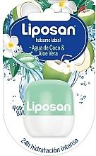 Parfums et Produits cosmétiques Baume à lèvres, Eau de noix de coco et Aloe vera - Liposan Pop Ball