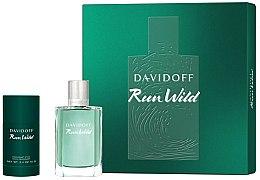 Parfums et Produits cosmétiques Davidoff Run Wild Men - Coffret (eau de toilette/100ml + stick déodorant/70g)