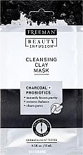 Parfums et Produits cosmétiques Masque à l'argile et charbon pour visage - Freeman Beauty Infusion Cleansing Clay Mask Charcoal & Probiotics (mini)