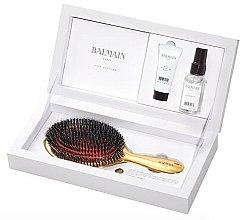 Parfums et Produits cosmétiques Balmain Paris Hair Couture Luxurious Golden Spa - Coffret(élixir de soie/50ml + élixir hydratant /20ml + brosse à cheveux)