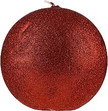 Parfums et Produits cosmétiques Bougie décorative, boule rouge, 10 cm - Artman Glamour