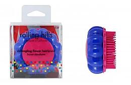 Parfums et Produits cosmétiques Brosse à cheveux démêlante, bleu-rose - Rolling Hills Brosse Desenredar Flower