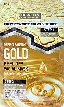 Parfums et Produits cosmétiques Gel nettoyant + masque peel-off à l'or - Beauty Formulas Deep Cleansing Gold Peel Off Facial Mask