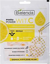 Parfums et Produits cosmétiques Masque en tissu sec à la vitamine C et sérum pour visage - Bielenda Power Vit.C Mask + Illuminating Serum
