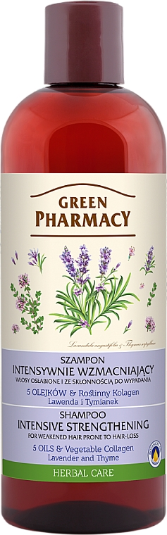 Shampooing à l'huile de lavande et extrait de thym - Green Pharmacy