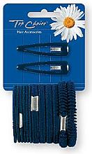 Parfums et Produits cosmétiques Set barrettes et élastiques à cheveux, noir, 2+12 pcs - Top Choice