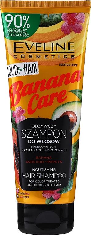 Shampooing à la banane et avocat - Eveline Cosmetics Food For Hair Banana Care Shampoo