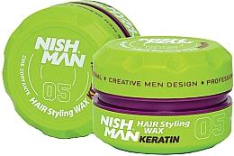 Parfums et Produits cosmétiques Cire coiffante - Nishman Hair Styling Wax 05 Keratin