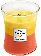 Parfums et Produits cosmétiques Bougie parfumée en jarre avec mèche en bois, Aurore tropicale - Woodwick Tropical Sunrise Trilogy Candle