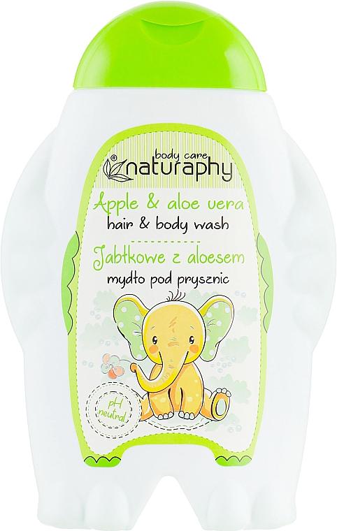 Shampooing et gel douche à l'arôme de pomme - Bluxcosmetics Naturaphy Hair&Body Wash