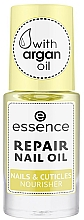 Parfums et Produits cosmétiques Soin nourrissant à l'huile d'argan pour ongles et cuticules - Essence Repair Nail Oil Nails & Cuicles Nourisher