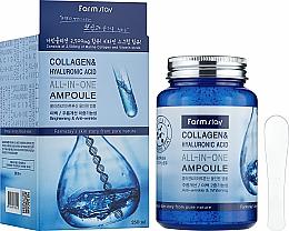 Parfums et Produits cosmétiques Sérum en ampoule au collagène et acide hyaluronique pour visage - FarmStay Collagen & Hyaluronic Acid All-In-One Ampoule