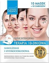 Parfums et Produits cosmétiques Masques de soin pour visage, 10 pcs. - Czyste Piekno Moisturizing Therapy 10 Days