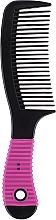 Parfums et Produits cosmétiques Peigne à cheveux avec manche en caoutchouc, 499835, noir - Inter-Vion