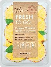 Parfums et Produits cosmétiques Masque tissu rafraichissant à l'extrait d'ananas - Tony Moly Fresh To Go Mask Sheet Pineapple