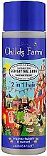 Parfums et Produits cosmétiques Shampooing et après-shampooing, Rhubarbe et crème anglaise - Childs Farm 2in1 Organic Rhubarb&Custard Shampoo And Conditioner