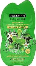 Parfums et Produits cosmétiques MAsque peel-off au thé vert et fleur d'orange pour visage - Freeman Feeling Beautiful Brightening Green Tea+Orange Blossom Peel-Off Gel Mask (mini)