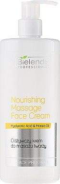 Crème de massage à l'acide hyaluronique pour visage - Bielenda Professional Face Program Nourishing Massage Face Cream