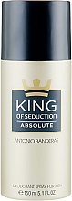 Parfums et Produits cosmétiques Antonio Banderas King of Seduction Absolute - Déodorant spray