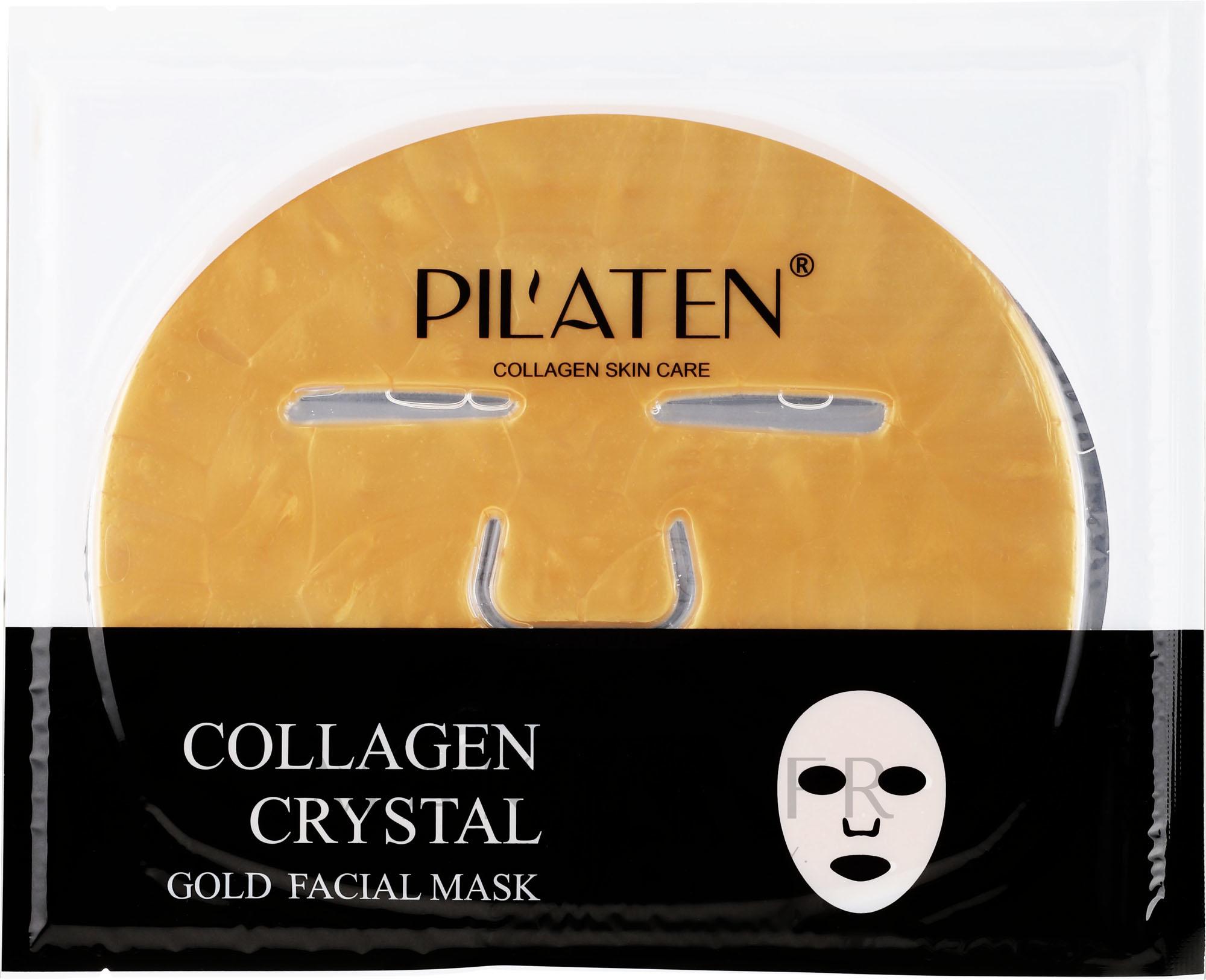 Masque tissu au collagène pour visage - Pilaten Collagen Crystal Gold Facial Mask — Photo 60 g