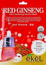 Parfums et Produits cosmétiques Masque tissu à l'extrait de ginseng rouge pour visage - Ekel Red Ging Seng Ultra Hydrating Essence Mask