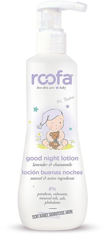 Lotion de nuit à l'extrait de lavande et de camomille pour corps - Roofa Good Night Lotion