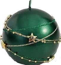 Parfums et Produits cosmétiques Bougie décorative, boule, vert, 8cm - Artman Christmas Garland