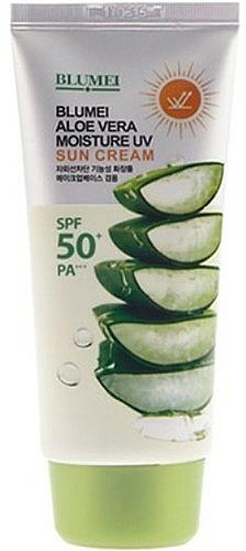 Crème à l'aloe verta pour corps et visage - Blumei Jeju Moisture Aloe Vera Sun Cream SPF50
