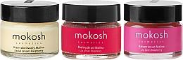 Parfums et Produits cosmétiques Mokosh Cosmetics Raspberry - Set (crème pour visage/15ml + baume à lèvres/15ml + gommage à lèvres/15ml)