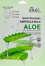 Parfums et Produits cosmétiques Masque tissu au jus d'aloe vera pour visage - Ekel Super Natural Ampoule Mask Aloe