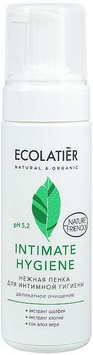 Mousse d'hygiène intime aux extraits de sauge et coton - Ecolatier Intimate Hygiene