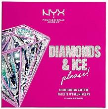 Parfums et Produits cosmétiques Palette professionnelle d'enlumineurs - NYX Professional Makeup Diamonds & Ice Please Diamond Highlighting Palette Quad
