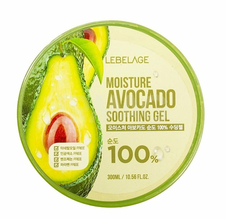 Gel à l'extrait d'avocat pour visage - Lebelage Moisture Avocado 100% Soothing Gel