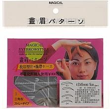 Parfums et Produits cosmétiques Pochoirs à sourcils, taille C1, C2, C3, C4 - Magical Eyebrow Style