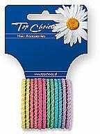 Parfums et Produits cosmétiques Lot de 12 élastiques à cheveux 21954, multicolore - Top Choice