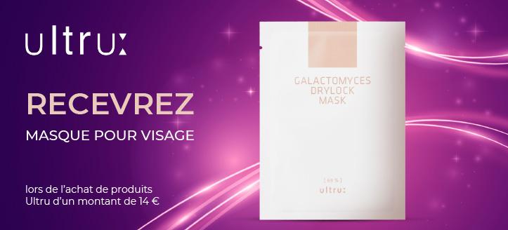 Lors de l'achat de produits Ultru pour un montant de 14 € ou plus, obtenez un masque facial en cadeau