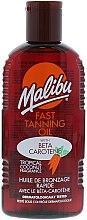 Parfums et Produits cosmétiques Huile accélératrice de bronzage au β-carotène - Malibu Fast Tanning Oil with Carotene