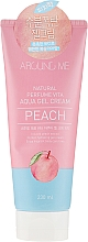 Parfums et Produits cosmétiques Hydrogel-crème apaisant à l'extrait de pêche pour visage et corps - Welcos Around Me Aqua Gel Cream Peach