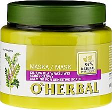 Parfums et Produits cosmétiques Masque apaisant pour cuir chevelu sensible à l'extrait de réglisse - O'Herbal