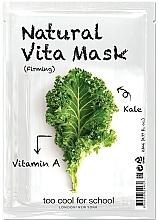 Parfums et Produits cosmétiques Masque tissu à la vitamine A pour visage - Too Cool For School Natural Vita Mask Firming