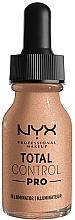 Parfums et Produits cosmétiques Fond de teint éclaircissant - NYX Professional Total Control Pro Drop Foundation Illuminator