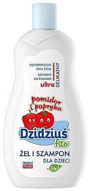 Gel douche et shampooing 2 en 1 ultra doux à la tomate et poivre - Dzidzius Fito