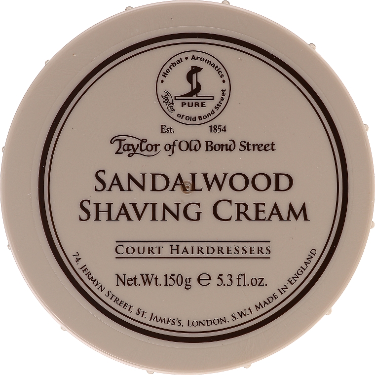 Crème à raser au bois de santal - Taylor of Old Bond Street Sandalwood Shaving Cream Bowl