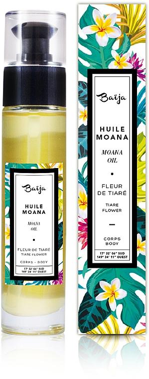 Huile corps et bain, Fleur de Tiaré - Baija Moana Rich Body & Bath Oil