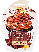 Parfums et Produits cosmétiques Masque bulles régénérant pour peaux normales à mixtes, Gâteau au chocolat et orange - Marion Sweet Mask Chocolate Orange Cake