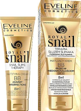 BB-crème matifiante anti-imperfections 8en1 - Eveline Cosmetics Royal Snail BB Cream 8in1