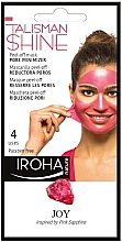 Parfums et Produits cosmétiques Masque peel-off anti-pores dillatés au raisin pour visage - Iroha Nature Peel Off Pink Sapphire Pore Minimizer