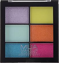 Parfums et Produits cosmétiques Palette d'ombres à paupières - MUA Makeup Academy Professional 6 Shade Palette